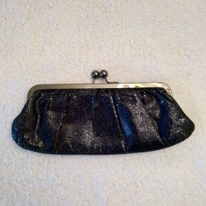 EXPRESS ALL BLACK SEQUINED CLUTCH